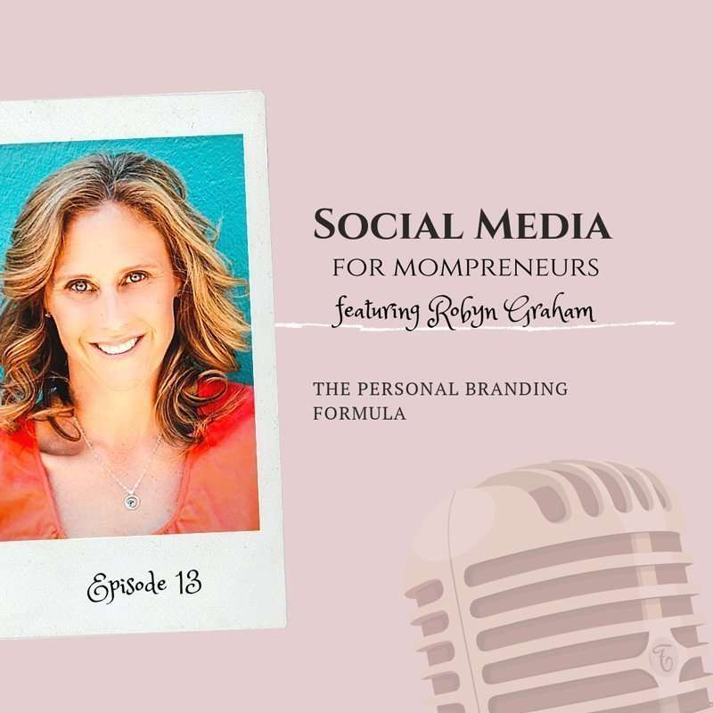graphic posting social media for mompreneurs podcast