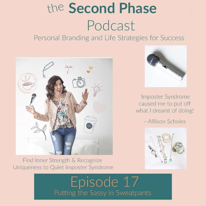 Allison Scholes is the boss lady in sweatpants who is helping mompreneurs build personal brands through her stock photo membership. In this photo she is dancing and smiling.