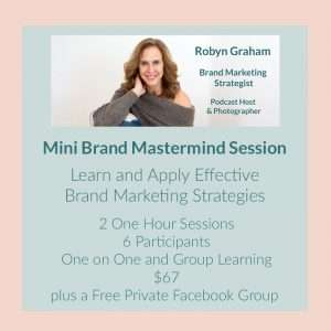 mini brand mastermind session to learn brand marketing strategies with Robyn Graham